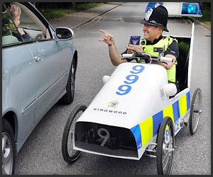 Pedal-Powered Police Car