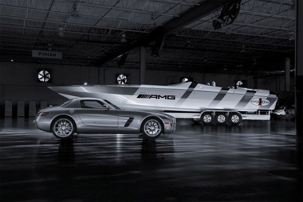 Benz-Inspired Racing Boat