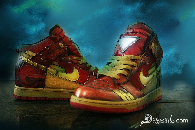 Custom Iron Man Sneakers