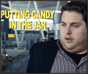 Putting Candy In The Jar
