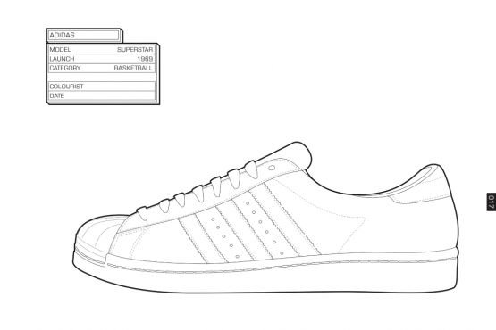 Adidas Shoe Outline