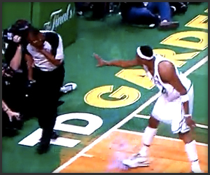 Paul Pierce Punches Ref