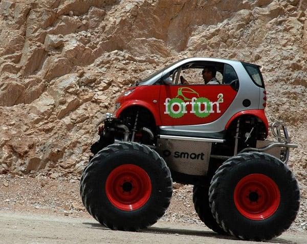 Smart Car + Monster Truck