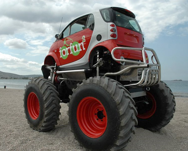 Smart Car + Monster Truck