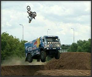 Motorcycle Jumps Jumping Truck