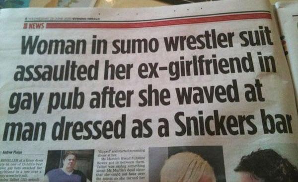 The Greatest Headline Ever