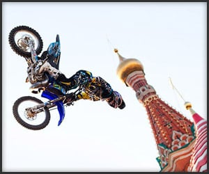 Motorcycle Jump Red Square