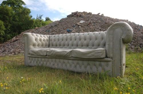 Concrete Chesterfield Sofa