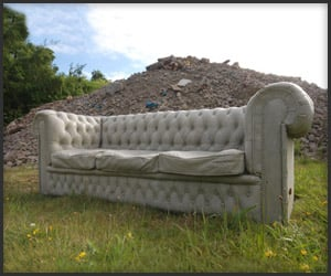 Concrete Chesterfield Sofa