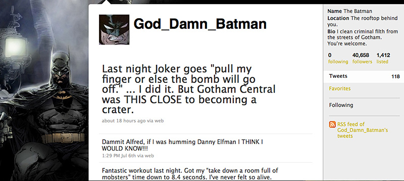 Batman on Twitter