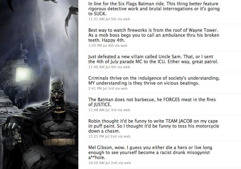 Batman on Twitter