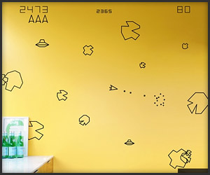 Asteroids Wall Graphics