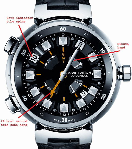 LV Tambour Spin Time Watch