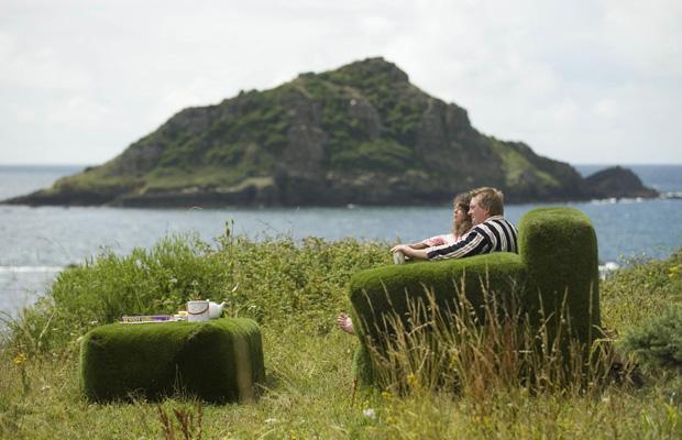 Giant Grass Sofas