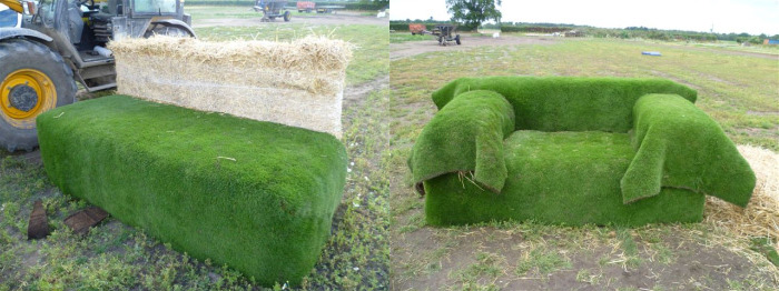 Giant Grass Sofas