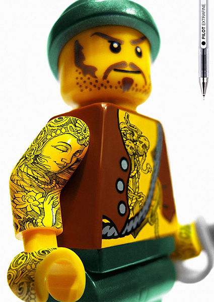 Tattooed LEGO Minifigs