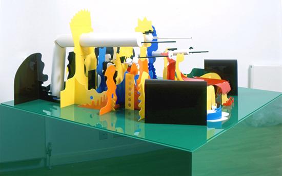 Cartoon Perspective Sculptures