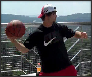 World's Longest Basketball Shot