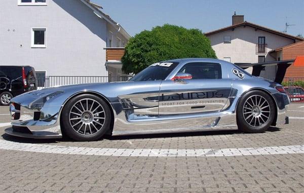 Chrome Mercedes SLS AMG