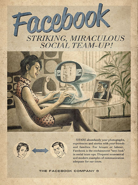Vintage Social Website Ads