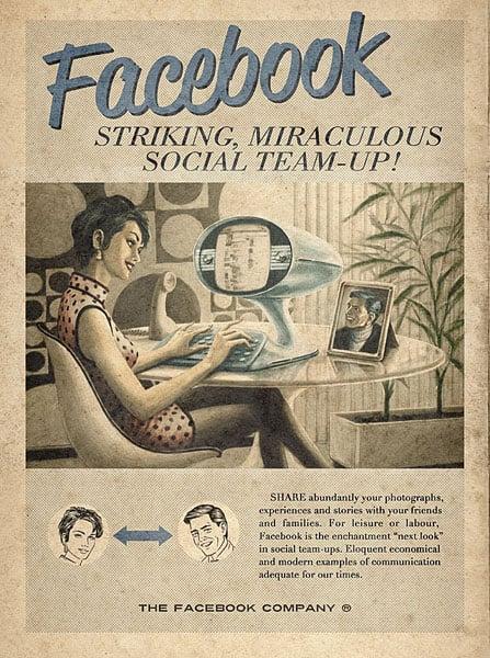 Vintage Social Website Ads