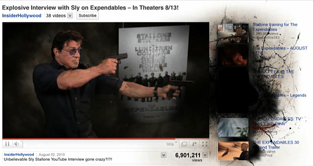 Stallone Blows Up YouTube