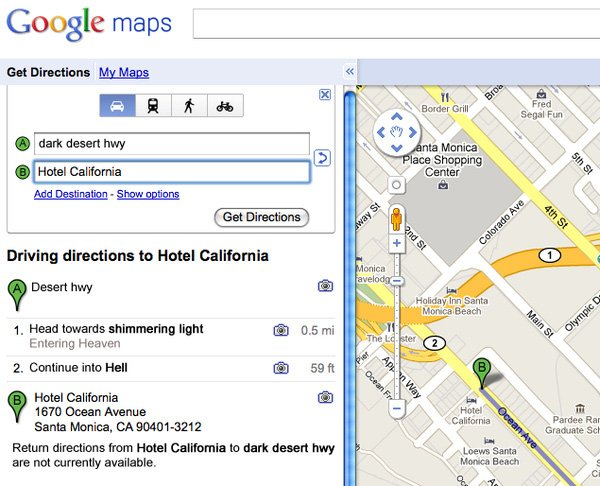 Google Maps x Song Lyrics The Awesomer – Get Directions on Google Maps