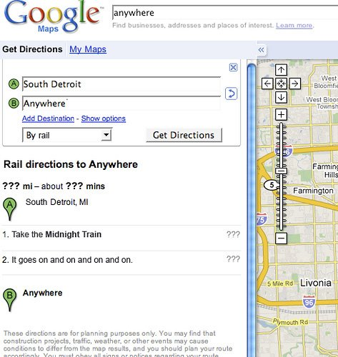 Google Maps x Song Lyrics