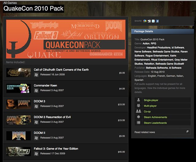 Steam QuakeCon Pack 2010
