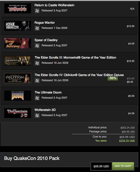 Steam QuakeCon Pack 2010