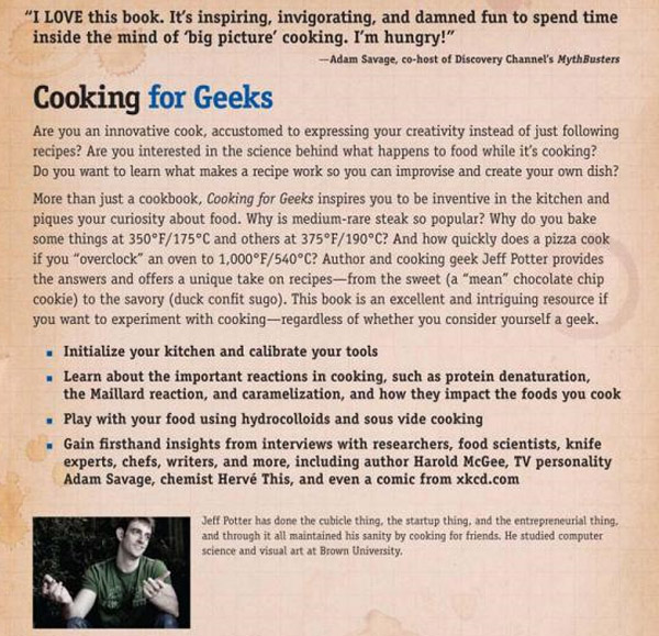 Cooking for Geeks