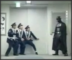 Darth Vader vs. Japanese Police