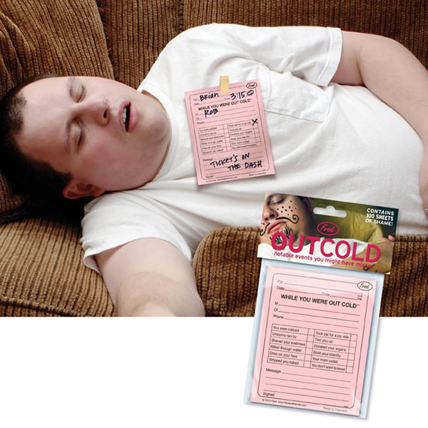 Out Cold Notepad