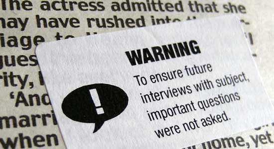 Journalism Warning Labels