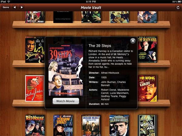 iPad App: Movie Vault