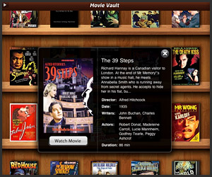 iPad App: Movie Vault