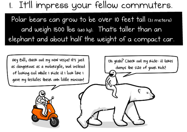 Ride a Polar Bear to Work: Comic