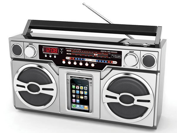 80′s Style Digital Boombox