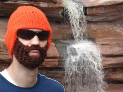 Bearded Beanie Knitting Pattern : Bearded Knit Beanie Hat - The Awesomer