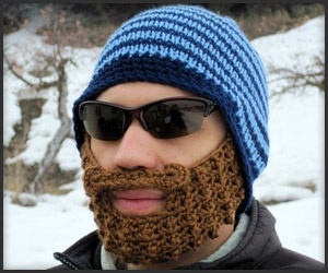 Bearded Knit Beanie Hat