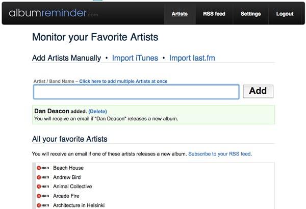 Album Reminder