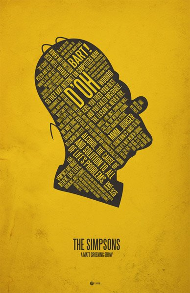 silhouette typography posters   the awesomer