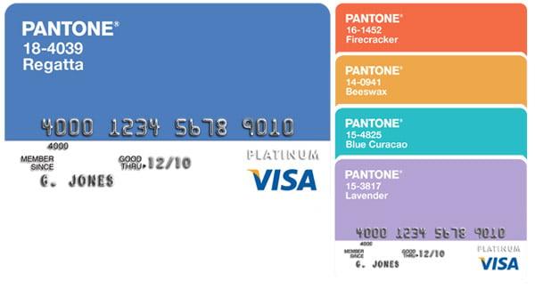 Pantone Visa Cards