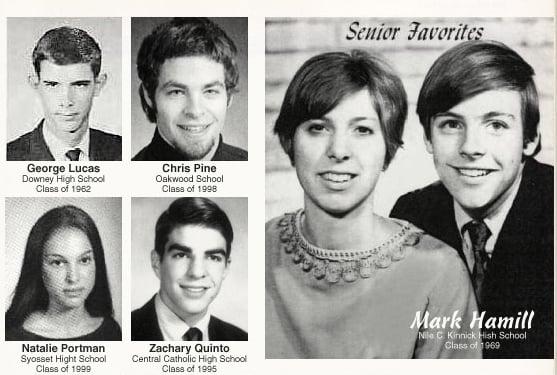 Sci-fi Stars Yearbook Pics