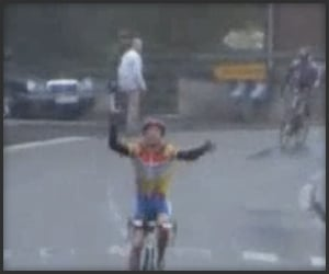 Cyclist Celebration Fail