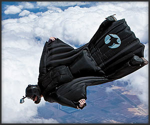 Wing Suit Flight Footage