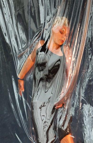 Shrink Wrap Performance Art