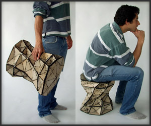 One-Hundred Triangles Stool