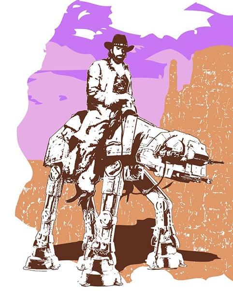 AT-AT Walker Texas Ranger