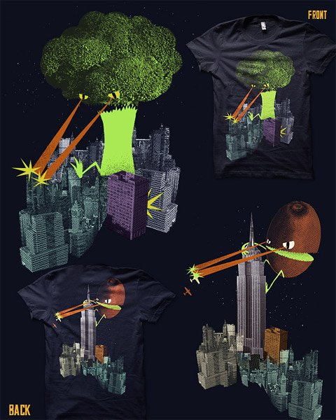 Broccozilla and Kiwi Kong Tee
